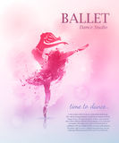 Conception d'affiche de ballet illustration stock