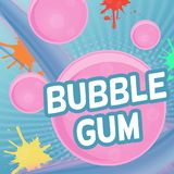 Conception d'affiche de bubble-gum illustration de vecteur
