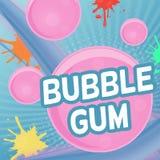 Conception d'affiche de bubble-gum illustration de vecteur