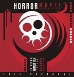 Conception d'affiche de festival de marathon de film d'horreur ou de film d'horreur Images libres de droits