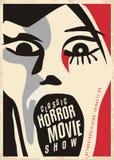 Conception d'affiche de films d'horreur illustration stock