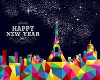 Conception d'affiche de Frances de la nouvelle année 2015