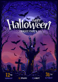 Conception d'affiche de Halloween Photographie stock