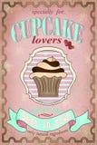 Conception d'affiche de petit gâteau de vintage Images libres de droits