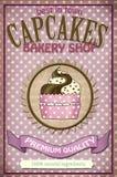 Conception d'affiche de petit gâteau de vintage Images stock