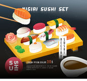 Conception d'affiche de sushi de vintage Images stock