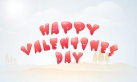 Conception d'affiche ou de bannière pour la Saint-Valentin heureuse Photos libres de droits