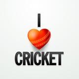Conception d'affiche ou de bannière pour le cricket Images stock