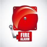 Conception d'alarme d'incendie illustration de vecteur
