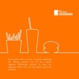 Conception d'aliments de préparation rapide. Image libre de droits