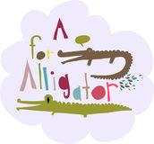 Conception d'alligator illustration stock