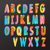 Conception d'alphabet dans le type coloré Photo libre de droits