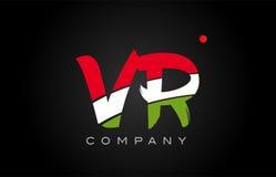Conception d'alphabet d'icône de combinaison de logo de lettre d'alphabet de VR V R Images libres de droits