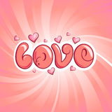 Conception d'amour Photo stock