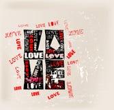 Conception d'amour, illustration stock