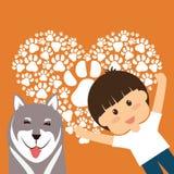 Conception d'amour d'animaux familiers Photographie stock