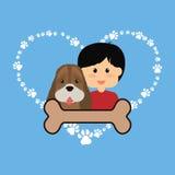 Conception d'amour d'animaux familiers Image stock