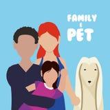 Conception d'amour d'animaux familiers Photo libre de droits