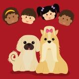 Conception d'amour d'animaux familiers Images libres de droits