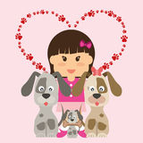 Conception d'amour d'animaux familiers Photos stock