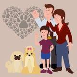 Conception d'amour d'animaux familiers Photo stock