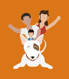 Conception d'amour d'animaux familiers Image libre de droits