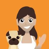 Conception d'amour d'animaux familiers Photos libres de droits