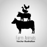Conception d'animaux de ferme Images libres de droits