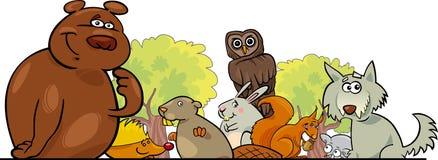 Conception d'animaux de forêt de dessin animé Photos libres de droits