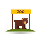 Conception d'animaux de zoo Photographie stock