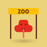 Conception d'animaux de zoo Image stock
