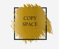 conception d'annonce, conception sociale d'or de courrier de médias illustration libre de droits