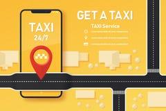 Conception d'application de mobile de taxi illustration libre de droits