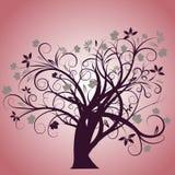 Conception d'arbre d'automne de vecteur Images libres de droits