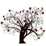 Conception d'arbre d'automne de vecteur Photos libres de droits