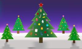 Conception d'arbre de Noël de décoration Modèle d'illustration image stock