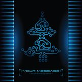 Conception d'arbre de Noël. Fond de technologie. Image stock