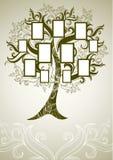 Conception d'arbre généalogique de vecteur avec des trames Photos libres de droits