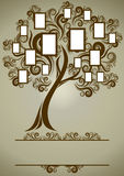 Conception d'arbre généalogique de vecteur avec des trames Images libres de droits
