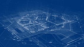 Conception d'architecture : plan de modèle - illustration d'un bâtiment résidentiel de plan/de technologie modernes, industrie, c