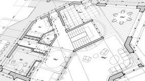 Conception d'architecture : plan de modèle - illustration de vecteur illustration stock