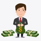 Conception d'argent illustration libre de droits