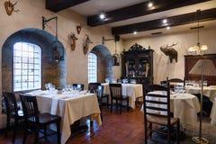 Conception d'arrangement intérieure de restaurant images stock