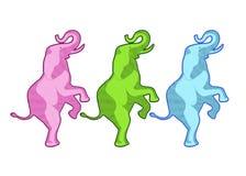 Conception d'art d'éléphant de cirque Images stock