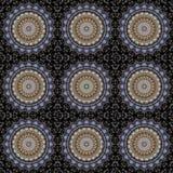 Conception d'art de Digital, architecture vue par le kaléidoscope illustration stock