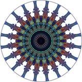 Conception d'art de Digital, modèle oriental, dans le colord différent Illustration Stock