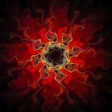 Conception d'art de Digital Texture colorée abstraite de fractale Configuration de fleur Photographie stock