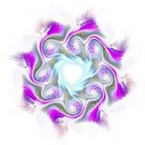 Conception d'art de Digital Texture colorée abstraite de fractale Configuration de fleur Image stock