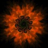Conception d'art de Digital Texture colorée abstraite de fractale Configuration de fleur Images stock