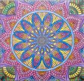 Conception d'art de mandala volored Photo libre de droits